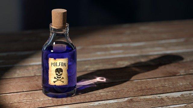 foto de um vidro com veneno representando droga ou como de libertar das drogas do e dependência químicas vícios e do alcool